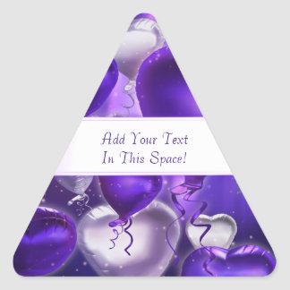 Pegatinas triangulares adaptables de los corazones pegatina triangular