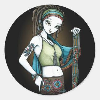 Pegatinas tribales de Fae del fabricante de la Etiqueta Redonda
