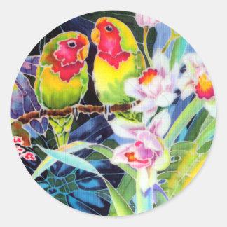 Pegatinas tropicales de la impresión de las pegatina redonda