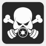 Pegatinas urbanos del pirata colcomanias cuadradas personalizadas
