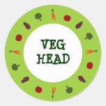 Pegatinas vegetarianos principales del vegano de V