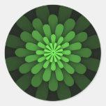 Pegatinas verdes abstractos etiquetas redondas