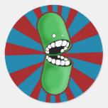 Pegatinas verdes de la cápsula