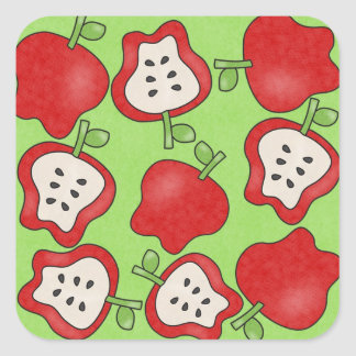 Pegatinas verdes de la diversión del caramelo pegatina cuadrada