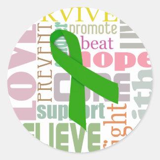 Pegatinas verdes de la inspiración de la cinta de pegatina redonda