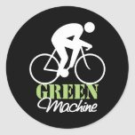 Pegatinas verdes de la máquina etiquetas redondas