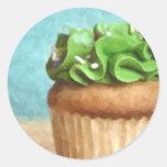 Pegatinas verdes de la pintura de la foto de la pegatinas redondas