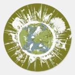 Pegatinas verdes del Día de la Tierra