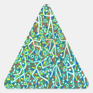 PEGATINAS verdes del mensaje Colcomanias De Triangulo