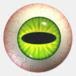 Pegatinas verdes del ojo de la envidia