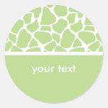 Pegatinas verdes del personalizado del estampado d