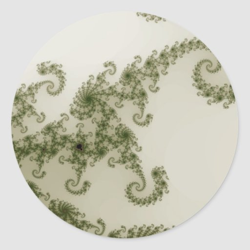 Pegatinas verdes olivas del humo etiquetas redondas
