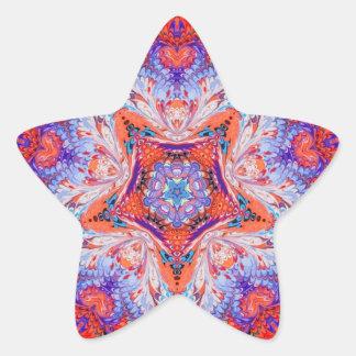 Pegatinas veteados de la estrella