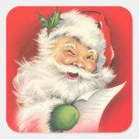 Pegatinas - vintage Papá Noel