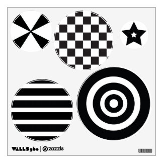 Pegatinas visuales de la etiqueta b/w de la pared  vinilo decorativo