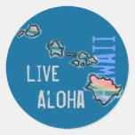 Pegatinas vivos de la isla hawaiana de la hawaiana