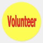pegatinas voluntarios etiqueta redonda