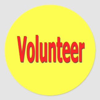 pegatinas voluntarios pegatina redonda