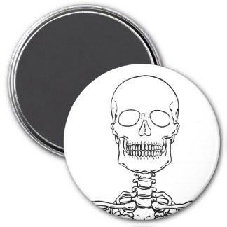 Pegatinas y botones esqueléticos imán redondo 7 cm