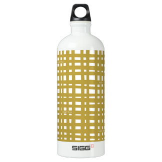 Pegeo Simply Me Bright Yellow Checker Water Bottle