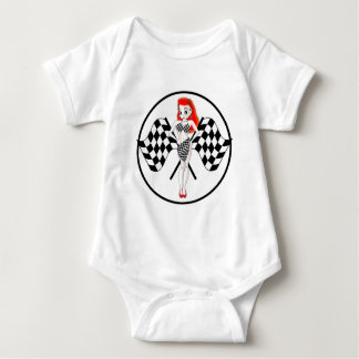 Peggy Pitstop Race Flags Baby Bodysuit