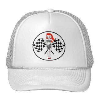 Peggy Pitstop Race Flags Trucker Hat