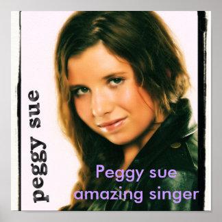 peggy sue, Peggy sue amazing singer Poster