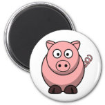Peggy the Portly Pink Pig 2 Inch Round Magnet