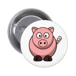 Peggy the Portly Pink Pig Button