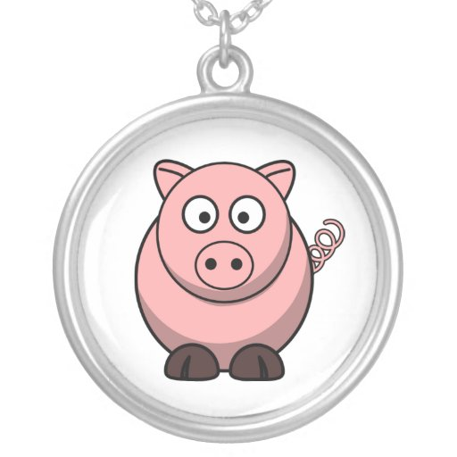 Peggy the Portly Pink Pig Custom Necklace