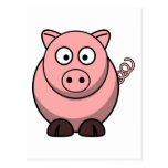 Peggy the Portly Pink Pig Postcard