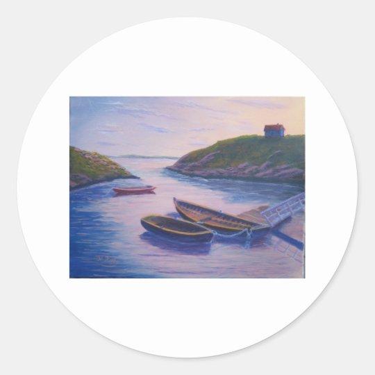 Peggy's Cove Dingies Classic Round Sticker