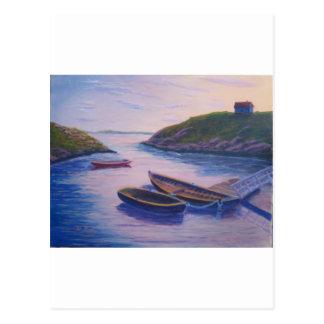 Peggy's Cove Dingies Postcard