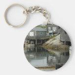 Peggy's Cove Docks Key Chain