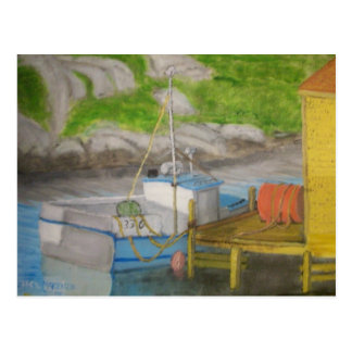Peggy's Cove - Fishing boat Postcard