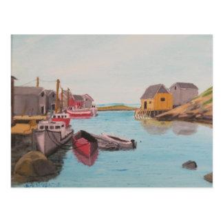 Peggy's Cove harbor Postcard