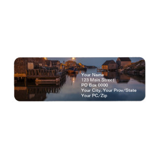 Peggy's Cove Harbour Return Address Labels