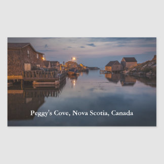 Peggy's Cove Harbour Rectangle Stickers