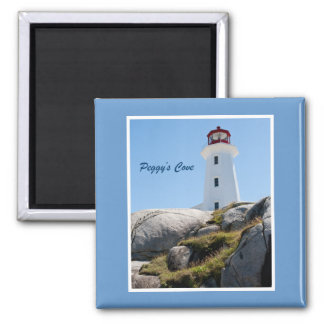 Peggy's Cove Lighthouse 2 Inch Square Magnet