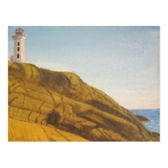 Peggy's Cove Lighthouse at Sunset Postcard