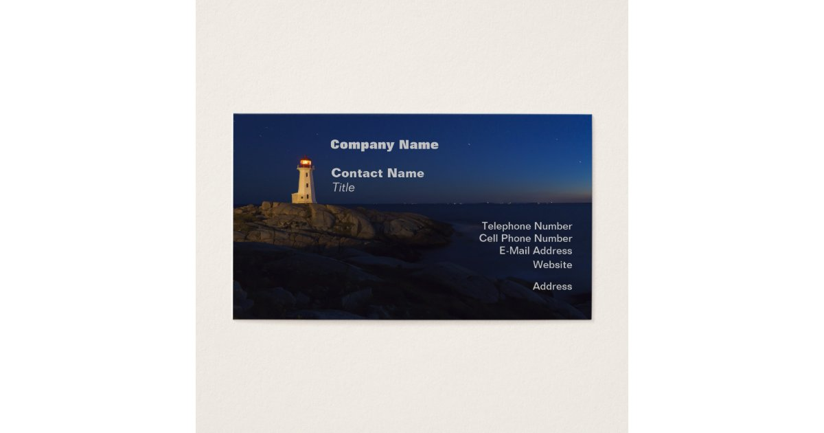 Peggy\'s Cove Lighthouse Business Cards | Zazzle.com