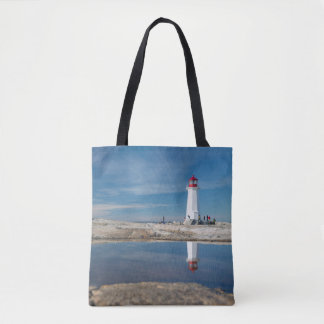 Peggy'S Cove Lighthouse | Canada Tote Bag