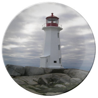 """""""Peggy's Cove"""""""" Lighthouse """"Lighthouse Route"""" Dinner Plate"""