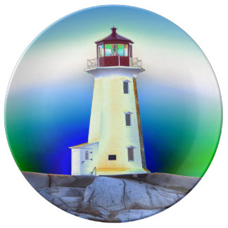 """""""Peggy's Cove"""""""" Lighthouse """"Lighthouse Route"""" Plate"""