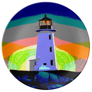 """""""Peggy's Cove"""""""" Lighthouse """"Lighthouse Route"""" Porcelain Plate"""