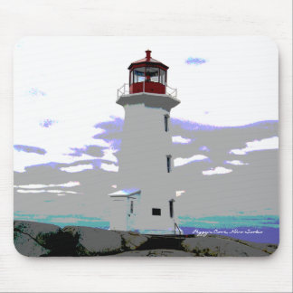 Peggy's Cove lighthouse  mouse Pad Nova Scotia