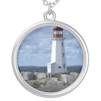 Peggy's Cove Lighthouse Silver Plated Necklace