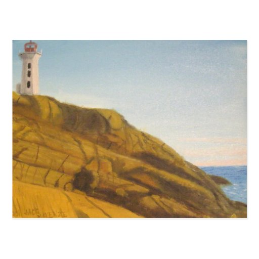 Peggy's Cove Lighthouse - Snset Postcard