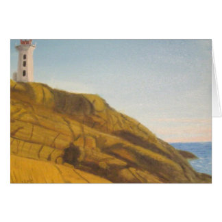 Peggy's Cove Lighthouse - Sunset Greeting Card