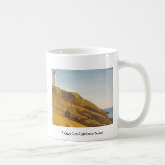 Peggys Cove Lighthouse Sunset Coffee Mug